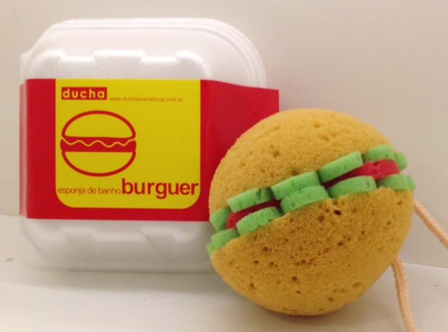 ducha esponja hamburger