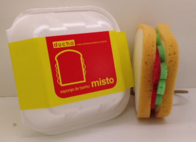 ducha esponja sanduiche