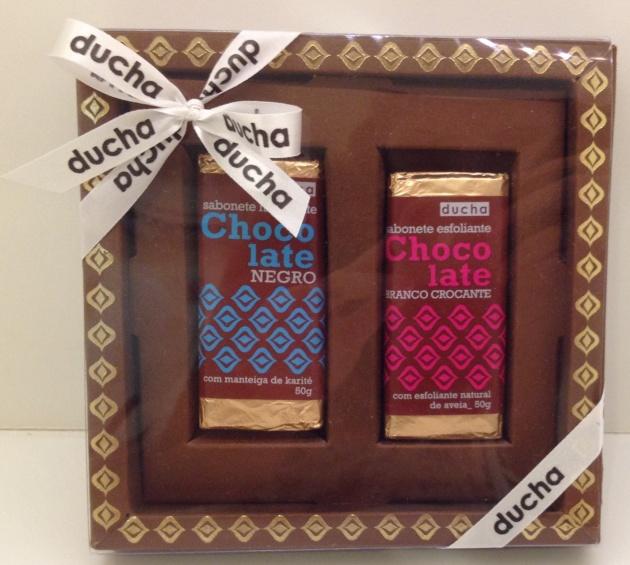 ducha sabonete chocolate caixa