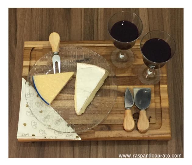 o que comer com vinho