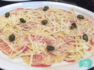 Carpaccio à moda do Cheff