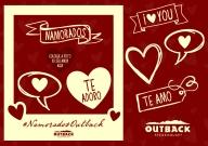 Cartela de Imãs - Outback - Dia dos Namorados
