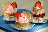 Cupcake de Morango com marshmallow